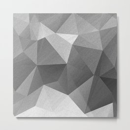 Grey polygonal geometric pattern . Metal Print
