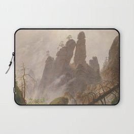 Caspar David Friedrich - Rocky Lanscape in the Elbe Sandstone Mountains Laptop Sleeve