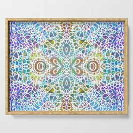 Mehndi Ethnic Style G356 Serving Tray