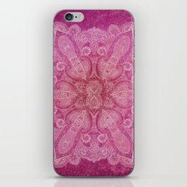 Big paisley mandala in raspberry iPhone Skin