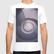 Spiral staircase in tones Mens Fitted Tee MEDIUM White