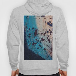 Weathered surface with rust and peeling paint Hoody