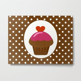 chocolate cupcake Metal Print