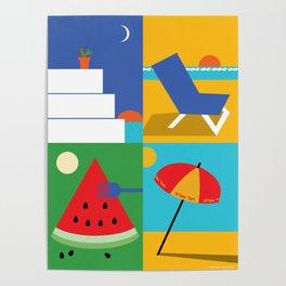 Mediterranean Summer Poster
