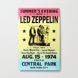 Poster rock 1974 LEDZEPPELIN CONCERT NEW YORK Metal Print