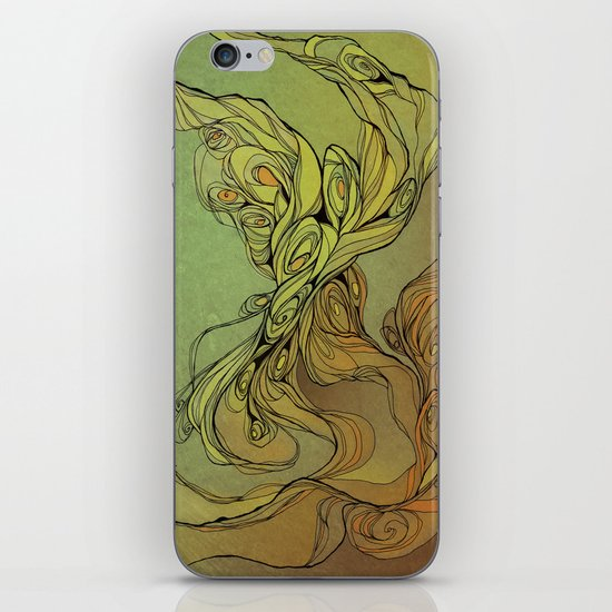 abstract floral composition iPhone & iPod Skin