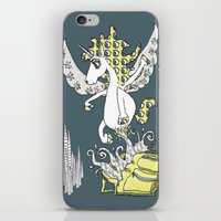 backpack iPhone & iPod Skins featuring Magical Mystery Backpack by Amy Gale