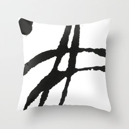 0523: a simple, bold, abstract piece in black and white by Alyssa Hamilton Art Throw Pillow