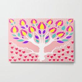 Love Grows Forever - Blush Peach Metal Print