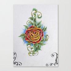 Ornamental Rose Canvas Print