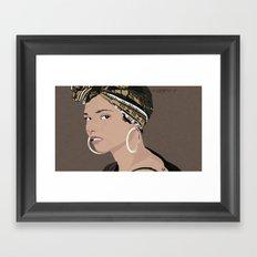 Alicia Key Framed Art Print