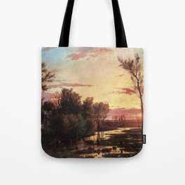 Un tramonto dopo la pioggia: A sunset after rain 1864 Tote Bag