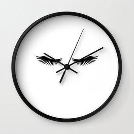 Eyelashes Print,Makeup Poster,Bathroom Decor,Girls Room Decor,Girls Bedroom Decor,Home Decor Wall Clock