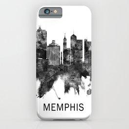 Memphis Tennessee Skyline BW iPhone Case