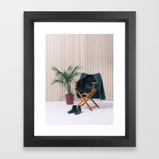 Director's Chair with Palm Framed Art Print