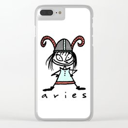 aries in the house(s)! Clear iPhone Case