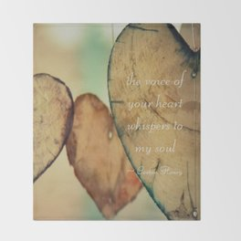 The Voice Of Your Heart Whispers To My Soul - Wind Chimes - Rustic - Wedding - Valentine's Day Throw Blanket