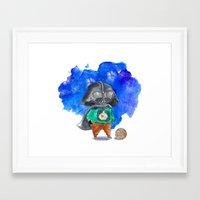 vader Framed Art Prints featuring Vader by gunberk