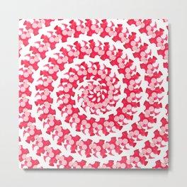 Candy Cane Spiral Metal Print