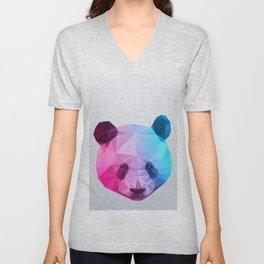 Polygon Panda Bear Unisex V-Neck