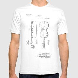 Violin Vintage Patent Hand Drawing T-shirt
