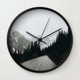 Moraine Lake Road Wall Clock