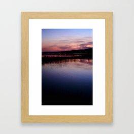 Blacketts Lake evening Framed Art Print