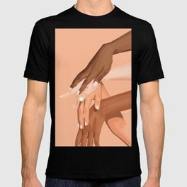 Black Lives Matter Empowered Hands T-shirt