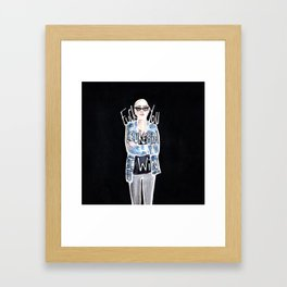 FUCK YOU, LEUKEMIA. I WIN. Framed Art Print