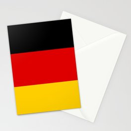 German flag - High Quality version both in scale and color Stationery Cards