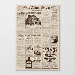 Vintage Newspaper Canvas Print