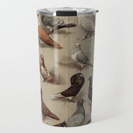 Vintage Pigeon Breeds Chart Travel Mug