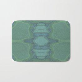 Art Nouveau Green Panel Bath Mat