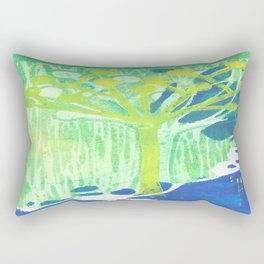 Yellow Dot Tree Rectangular Pillow