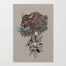 Buffalo Wildflower and Magnolias Canvas Print