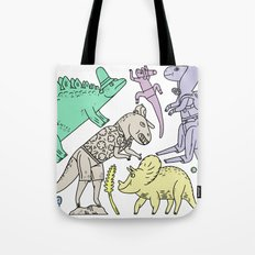 dinosaur friends Tote Bag