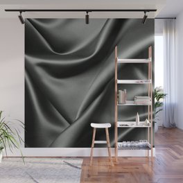 ABSTRACT - MODERN - BLACK - PHOTOGRAPHY - SHEETS Wall Mural