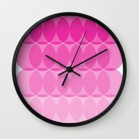 ombre Wall Clocks featuring Ombre by TypeArtist