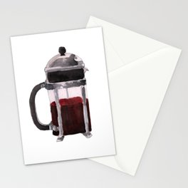 French Press - Red Stationery Cards