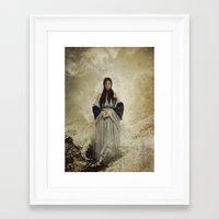 musa Framed Art Prints featuring La Musa del Lamento by Naelle Devannah