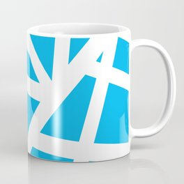 Abstract Interstate  Roadways White & Aqua Blue Color Coffee Mug