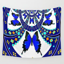 Western Royal Blue Butterfly  Wall Tapestry