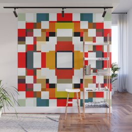 multicolored spatial geometric shellycoat Wall Mural