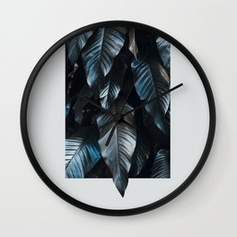 Growth II (blue) Wall Clock