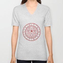 Gravity Falls Bill Cipher Wheel- disorderd Unisex V-Neck