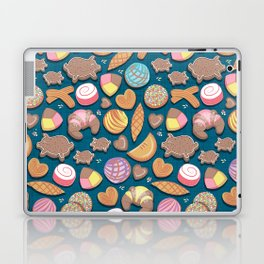 Mexican Sweet Bakery Frenzy // turquoise background // pastel colors pan dulce Laptop & iPad Skin