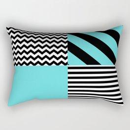 Blue B&W Rectangular Pillow