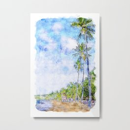 Caribbean Coast Metal Print