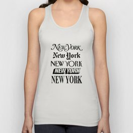 I Heart New York City Black and White New York Poster I Love NYC Design black-white home wall decor Unisex Tank Top