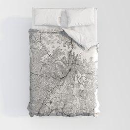 Sydney White Map Comforters
